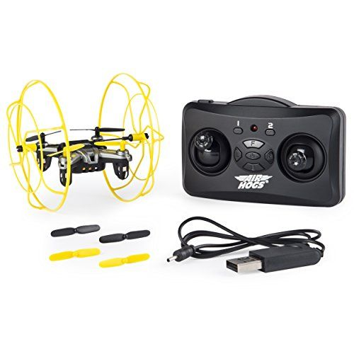Bump crash stunt and keep on flying with the unstoppable remote control Air Hogs Hyper Stunt Drone! This micro RC drone rolls on floors up walls and even across ceilings! Its beginner and advanced ...