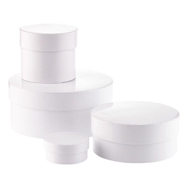 Round White Gift Boxes