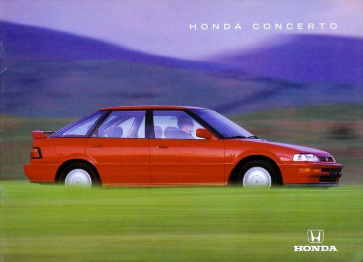 Honda Concerto UK Brochure 1989