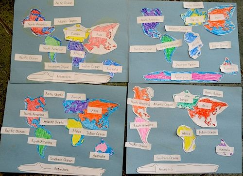 Continents of the World Map Activity for Kids from @kidworldcitizen