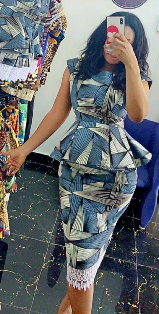Chitenge Peplum Dress Kanyget Fashions Latest African