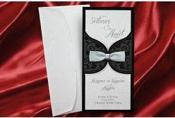 Faire Part Mariage Noir- #Invitation #mariage noir et blanc http://www.tour-babel.com/faire-part-mariage/faire-part-noir-blanc-rouge/invitation-mariage-bijou-pierre-pochette-noir-et-blanc.html