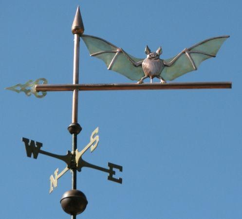 Bat on Arrow Weathervane by West Coast Weather Vanes