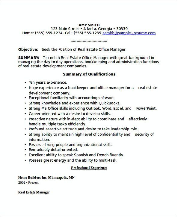 Real Estate Office Manager Resume 1 General Manager Resume Find The Things That You Need To Know For Your Gener Manager Resume Office Manager Resume Resume