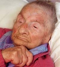 Marie-Louise Meilleur in 1998. Marie-Louise Fébronie Meilleur (née Chassé) (August 29, 1880 – April 16, 1998) was a French Canadian supercentenarian who, upon the death of Frenchwoman Jeanne Calment, became the oldest recognized living person. Meilleur is the oldest validated Canadian ever and the fourth oldest person in history, behind Jeanne Calment, Sarah Knauss and Lucy Hannah.