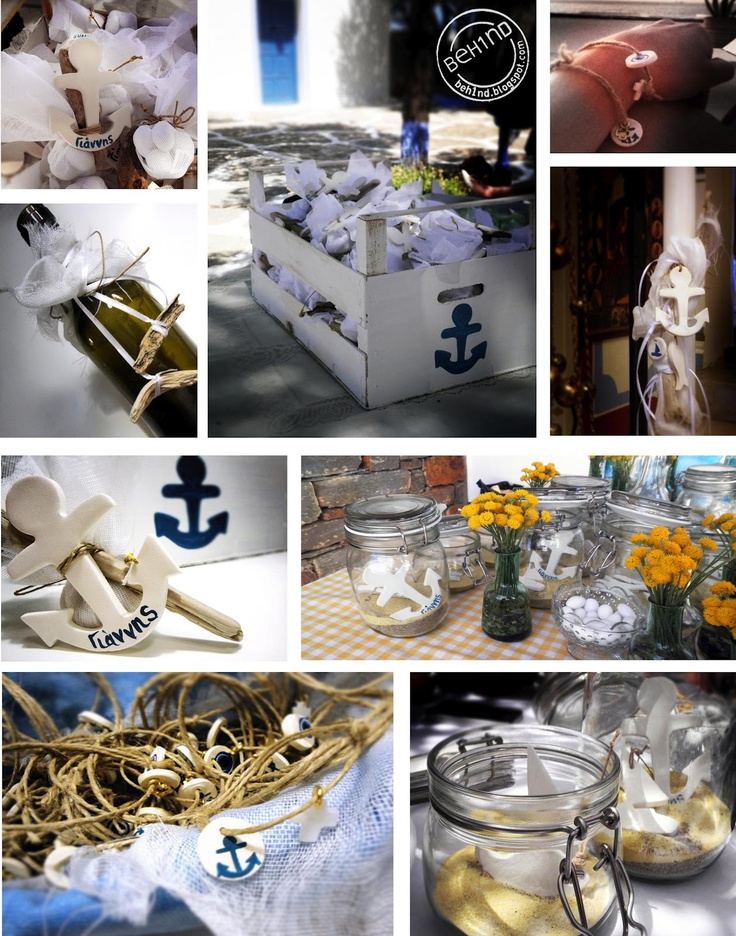nautical decoration for baptisim | Little Giannis' christening ceremony was held at Panagia Kastriani ...