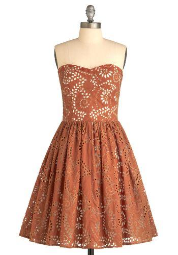 Coral cut dress
