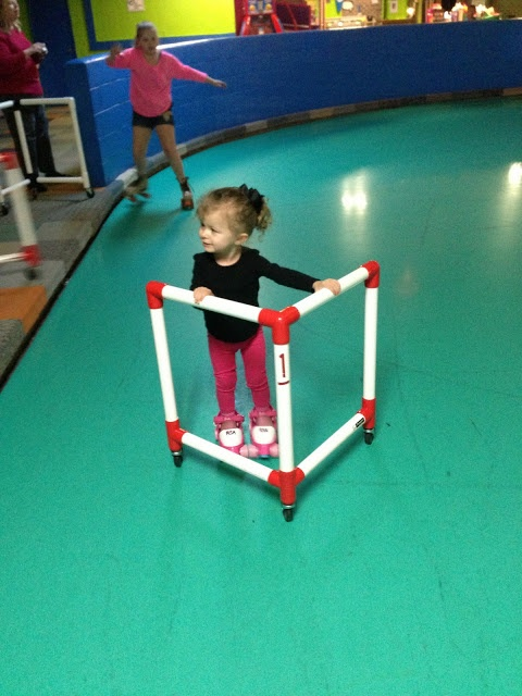 Roller skating aid ... every rink needs these for kids!