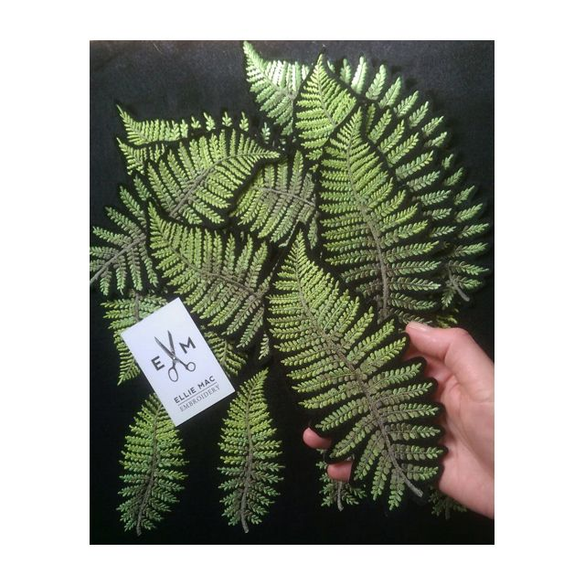 Ellie Mac Embroidery Felt Fern patches
