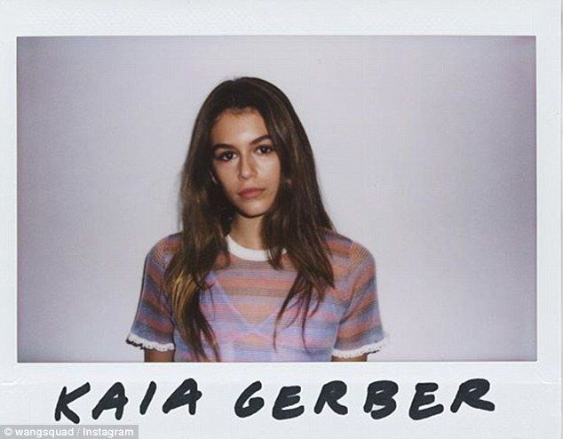 Rising star: Kaia Gerber is set to star as one of the faces of Alexander Wang's new Wang Squad campaign