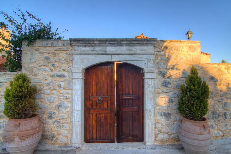 www.allaria.gr Villa Allaria Crete #villa #crete #greece #vacation_rental #luxury #private #holidays #summer_in_crete #island #main_door