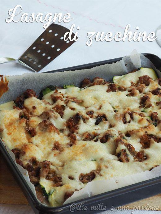 Lasagne di zucchine al ragù bianco