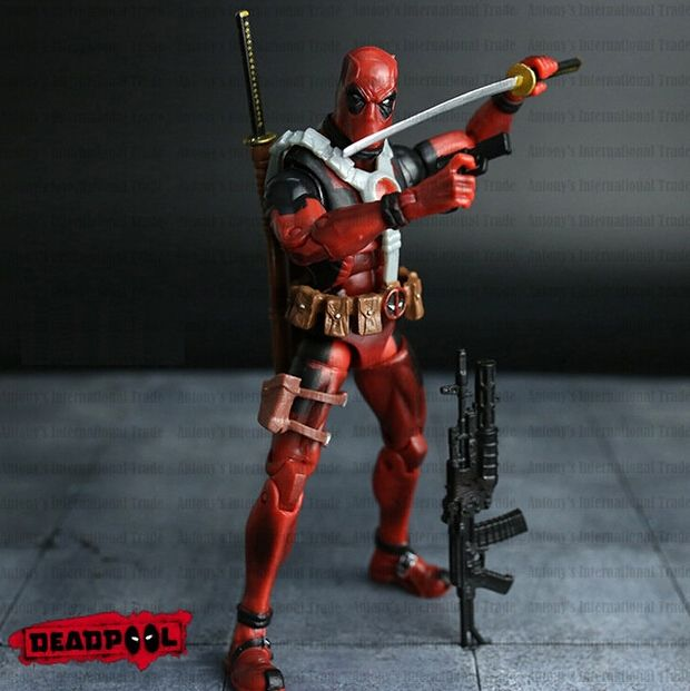7.99$  Buy here - http://aliqlu.shopchina.info/go.php?t=32641591073 - NEW hot ! 16cm Super hero Justice league X-MAN Deadpool action figure toys Christmas toy NO BOX  #magazineonlinewebsite