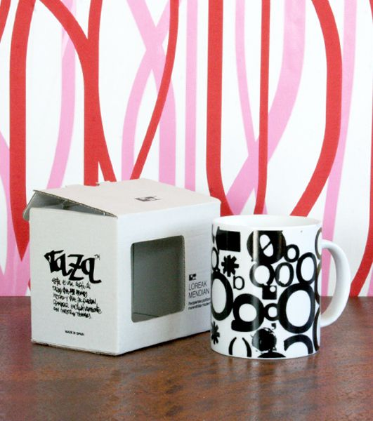 Taza personalizada con caja serigrafiada para Loreak Mendian por Personalitazas