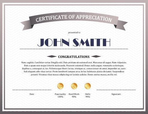 The  Best Sample Certificate Of Recognition Ideas On