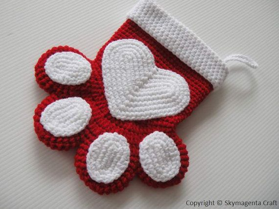 Crochet PETS CHRISTMAS SOCKS