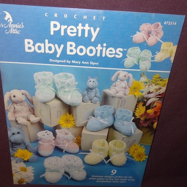 Crochet Pretty Baby Booties 2000 Booklet 872514 Boy Girl 9