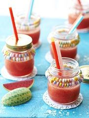 Watermelon slush, cute idea!