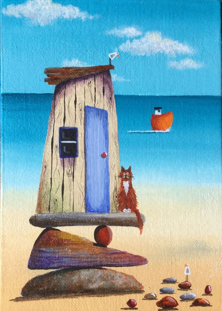Beach hut by Julia