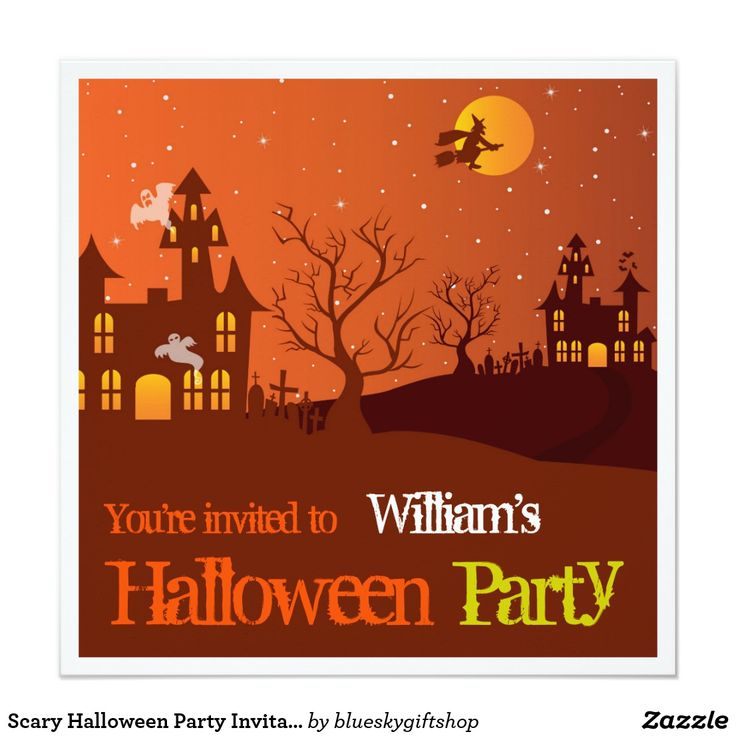 23 best invitations images on pinterest invitation cards lyrics scary halloween party invitation stopboris Images