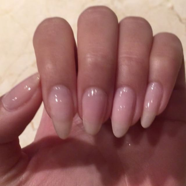 My nails were long but weak, so I made them shorter and used Quimica Alemana Nail Hardener for #ManiMonday this week!  I need my nails to grow long and strong  #BBLU @tazsangelsbeautybar