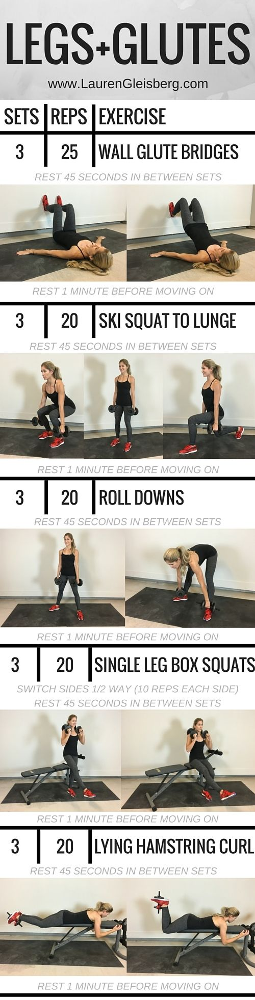 #LGFitAndLean2016 Fitness Challenge - Legs and Glutes Weight Training Workout  LaurenGleisberg.com