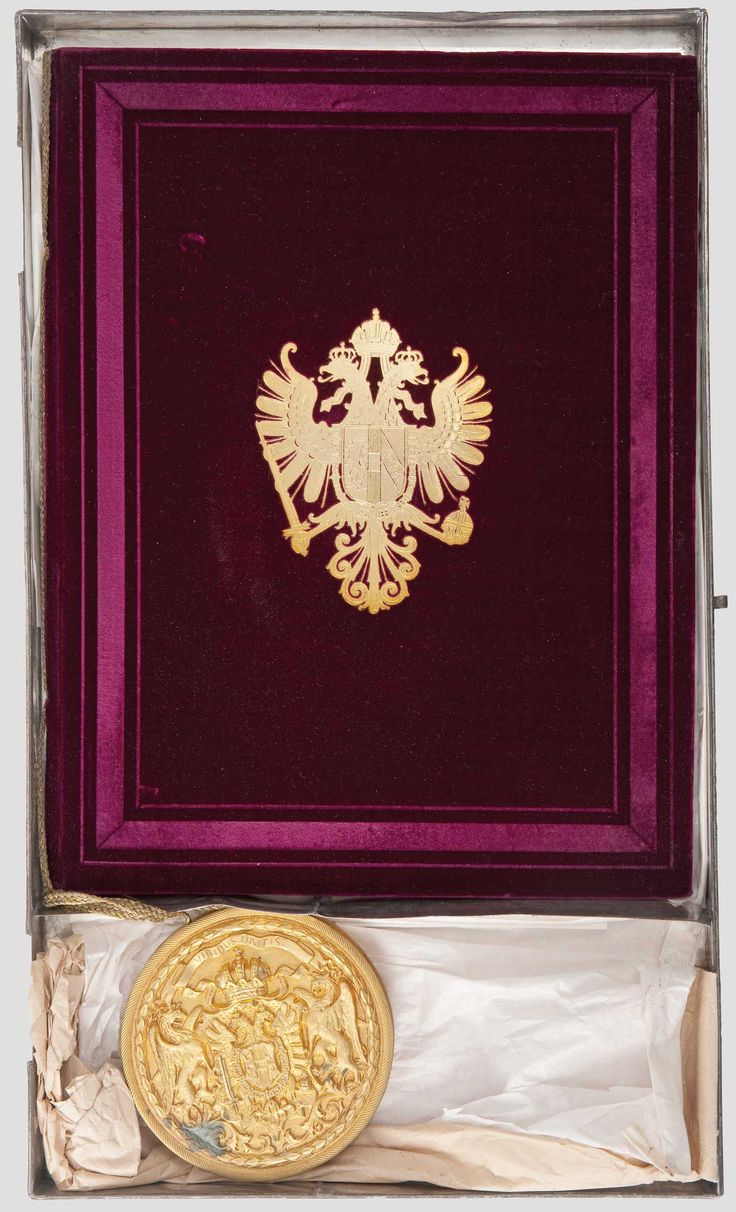 Austrian Grant of Nobility and of Arms to Franz Freiherr von Pitha, 1875.