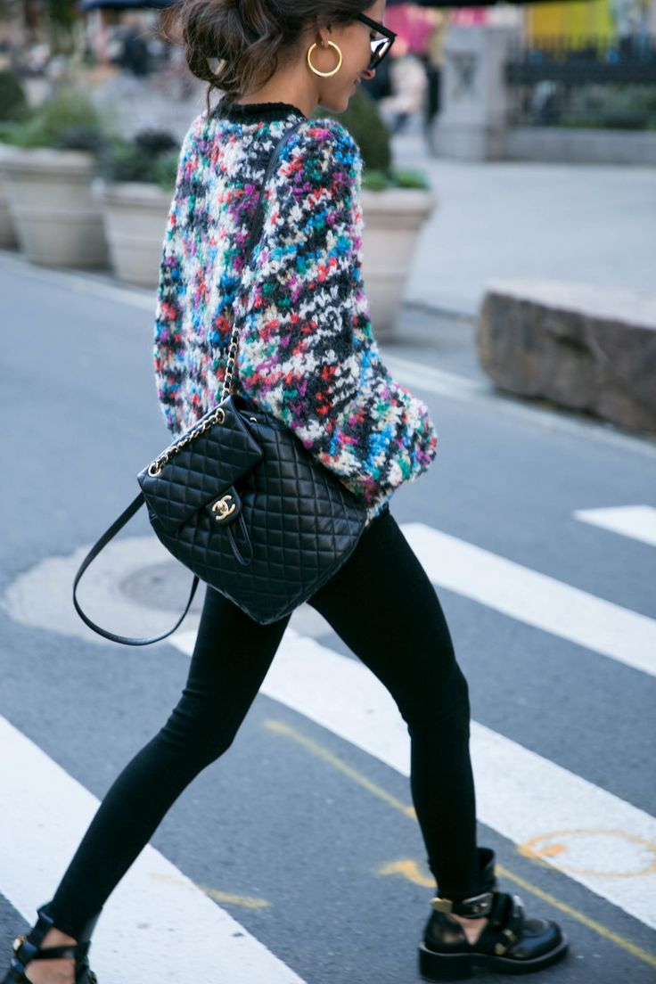 Something Navy Fashion Chanel Backpack Backpack Outfit