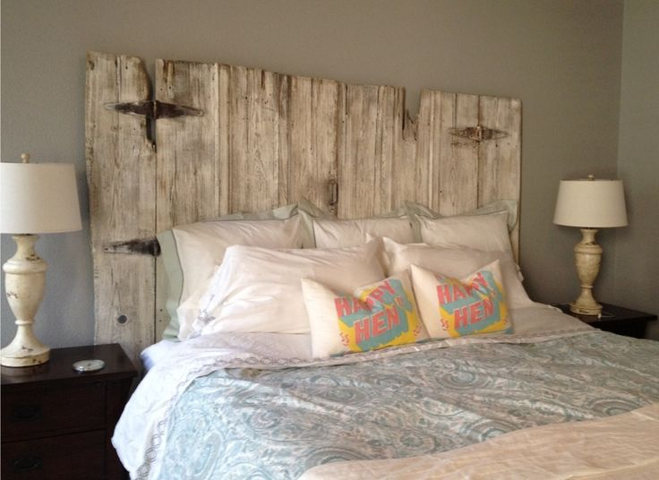 King size barn wood headboard complete with original hardware - constructed by Vintage Headboards.  Call us at 972.668.2603 to place your orders.  Finished by Paula Moore.