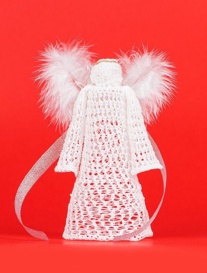 anioł zrobiony na szydełku