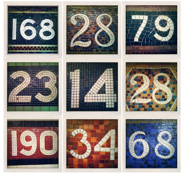 NYC Subway Numbers. Photo by Bill Amstutz