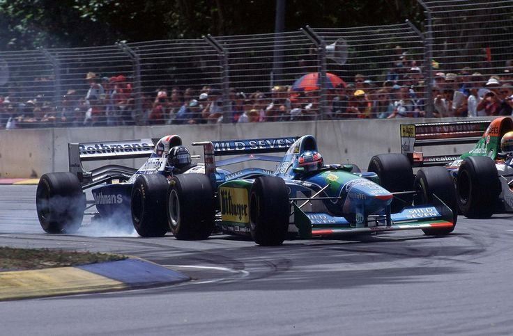 Michael Schumacher & Damon Hill (Benetton B194 & Williams FW16B) - 1994 Australian Grand Prix [1600x1052]