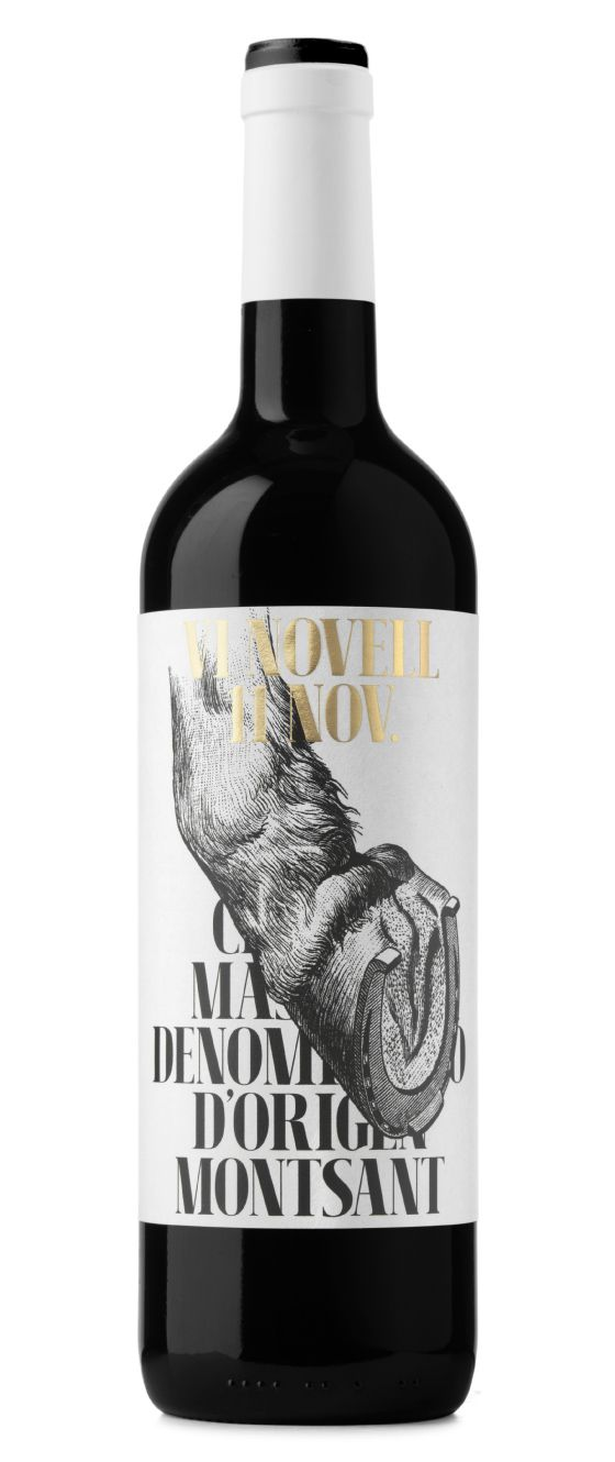 Vi Novell 2015. This is a fresh and fruity wine which is bottled before its fermentation is finished. Therefore, it must be consumed within a short space of time. For the 2015 edition we were inspired by Sant Martí, protector of the people who work with horses, mules or horseshoe cattle.