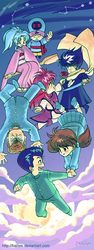 YuYu Hakusho - flying chibis by Barlee.deviantart.com on @DeviantArt