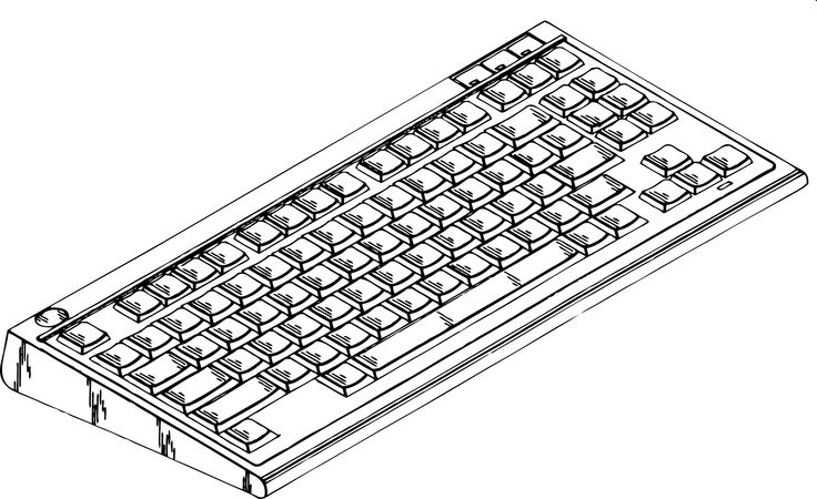 Pin by Clickworks on colouring book Keyboard, Computer