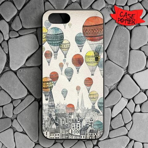 Air Balloons Parade In City iPhone SE Black Case