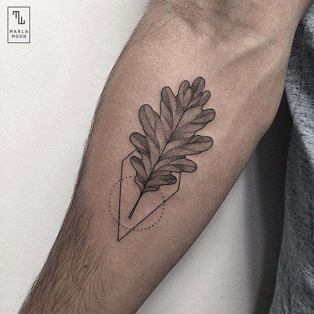 Картинки по запросу oak leaf tattoo