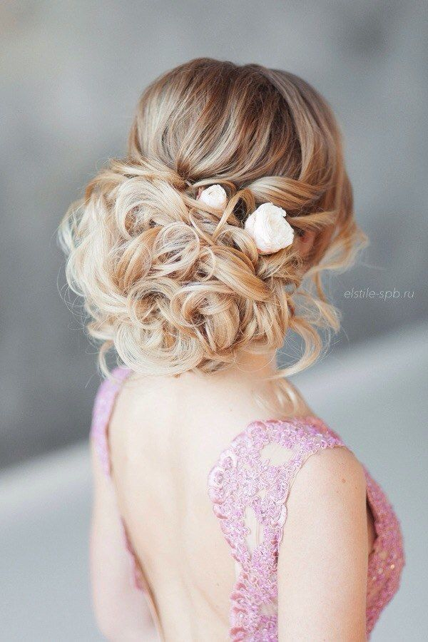 curly wedding bridal updo hairstyles