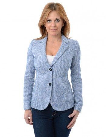 Armani Jeans Blue Striped Wool Blazer