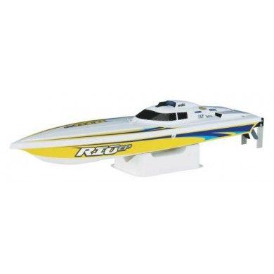 Zdalnie Sterowana Motorówka Rio EP Superboat RTR to produkt znanego amerykańskiego producenta łodzi AquaCraft Models. Jesli szukasz fajnych wrażeń na wodzie to jest to produkt dla Ciebie. Opis, dane techniczne, komentarze oraz film Video znajdziesz na naszej stronie, nie ma jeszcze komentarzy, to czemu nie zostawisz swojego:)