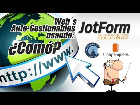 Tutorial Web Autogestionable con Jotform