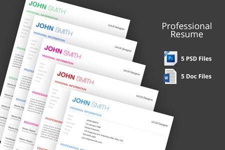Creativemarket Professional Resume Template 35006