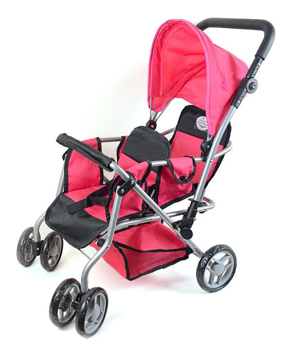 Look at this Pink Twin Doll Stroller for 18'' Doll on #zulily today!