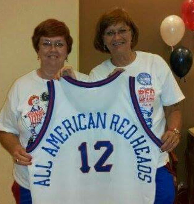 All American Red Heads Hall of Fame jersey, Brenda O'Bryan Koester and Kay O'Bryan Burk