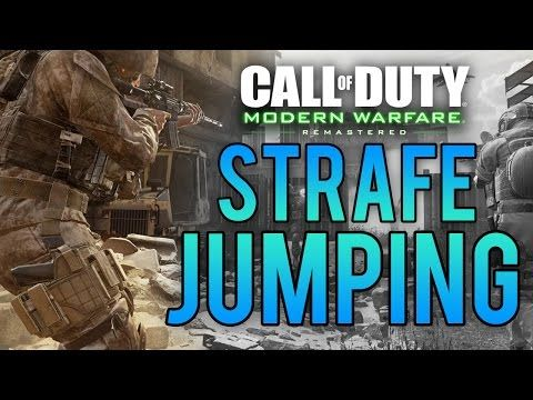 "http://callofdutyforever.com/call-of-duty-tutorials/what-is-strafe-jumping-call-of-duty-modern-warfare-remastered-quick-tip/ - What is ""STRAFE JUMPING""? - Call of Duty: Modern Warfare Remastered (QUICK TIP)  What is a strafe jump? Watch this video to find out! This is a rundown video on exactly what a strafe jump involves, considering it will be returning 100% it's going to be very important to understand it and be ahead of the curb. This will help develop you into a b"