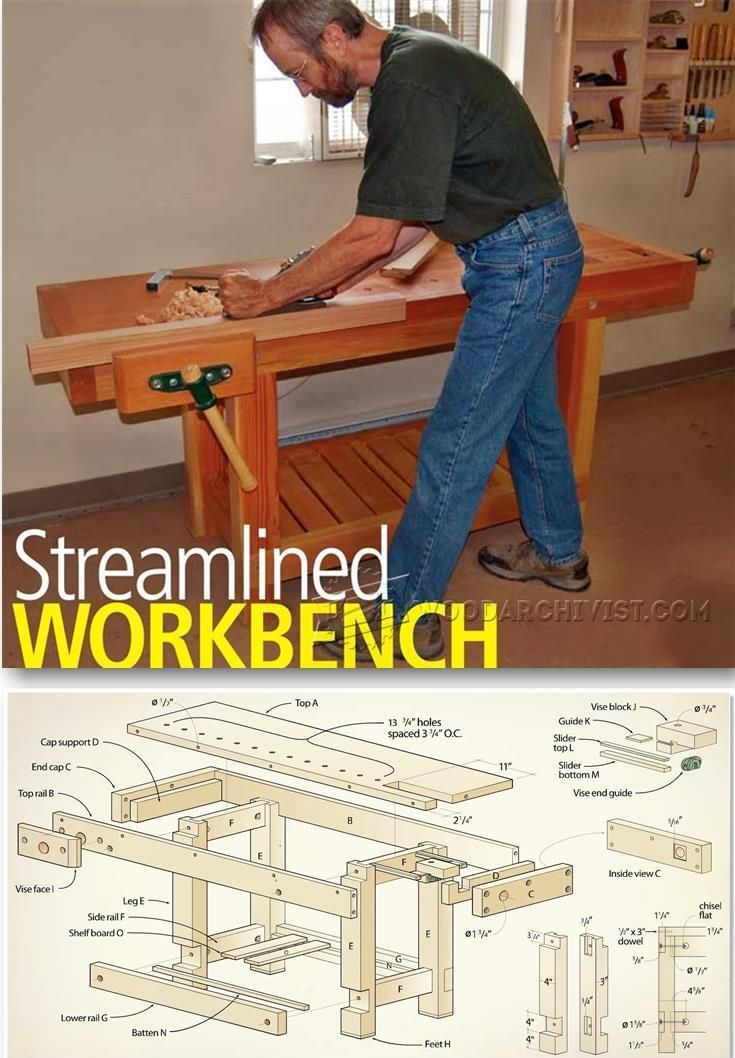 Building workbench workshop solutions plans tips and for Construction tips and tricks