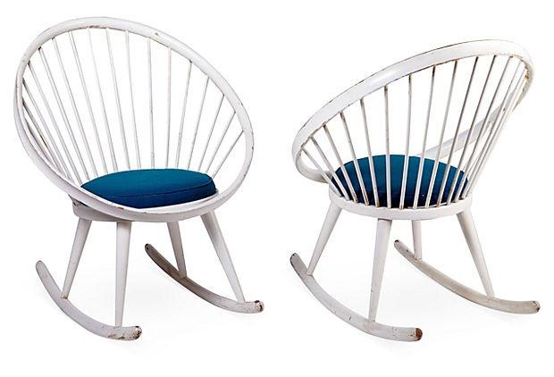 Yngve Ekstrom Rocking Chairs, Pair on OneKingsLane.com - Sunroom