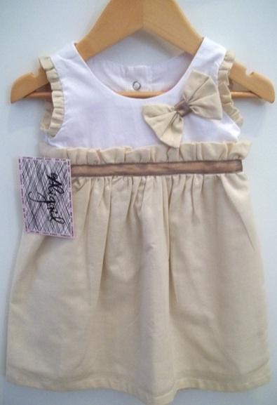 Abigail Childrenswear Cotton linen and piqué dress