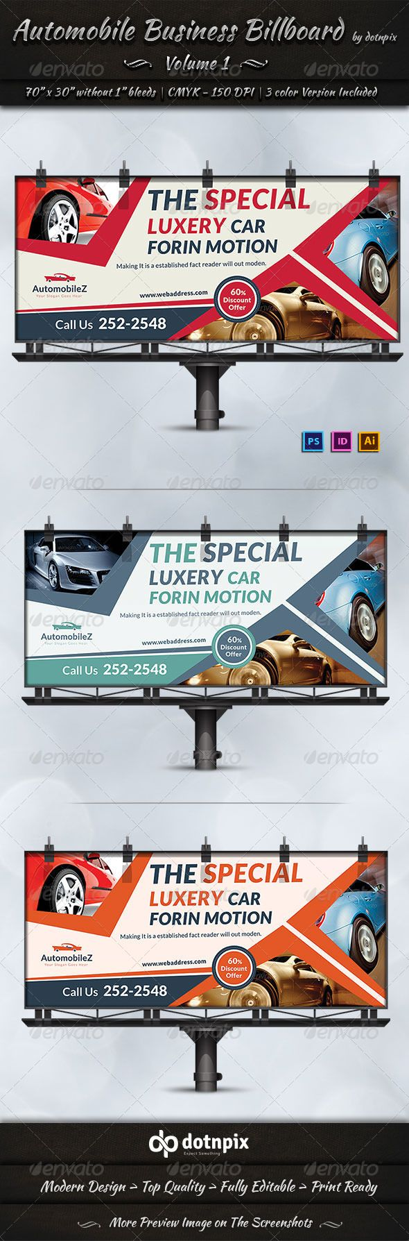 Automobile Business Billboard | Volume 1 — Photoshop PSD #print template #Car brands • Available here → https://graphicriver.net/item/automobile-business-billboard-volume-1/6965378?ref=pxcr