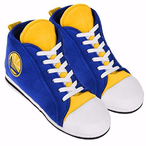 Golden State Warriors NBA Mens Hi Top Sneaker Slippers (Medium 9-10)  https://allstarsportsfan.com/product/golden-state-warriors-nba-mens-hi-top-sneaker-slippers-medium-9-10/  Officially licensed by team and league Fun Item for the Team Fan Team Colors